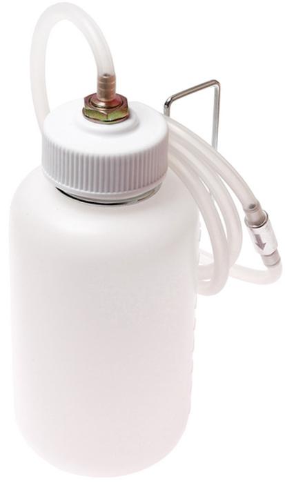 JTC Приспособление для удаления/прокачки тормозной жидкости,1 л. JTC-4829CA-3505Применяется для удаления тормозной жидкости. Регулируемый черный резиновый адаптер подходит для различных размеров перепускных клапанов. Конструкция позволяет визуально контролировать процесс прокачки. Емкость: 1000 см³. Длина трубки: 1300 мм. Габаритные размеры: 265/115/115 мм. (Д/Ш/В) Вес: 415 гр.