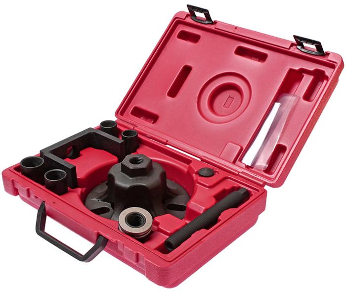 JTC Съемник ступицы универсальный, с адаптерами. JTC-48735104Способ применения: Зафиксируйте пластину в отверстиях колесного диска. Открутите болт, который фиксирует ступицу к приводном валу. Возьмите подходящий по размеру адаптер, затем зафиксируйте неподвижно приводной вал от коробки передач, приставьте рамку, зафиксируйте гайку и болт для дальнейшей работы по извлечению ступицы.Адаптеры ступицы: M22x1.5, M24x1.5, M27x1.5, M30x1.5. Упаковка: прочный переносной кейс. Габаритные размеры: 315/220/90 мм. (Д/Ш/В) Вес: 4161 гр.