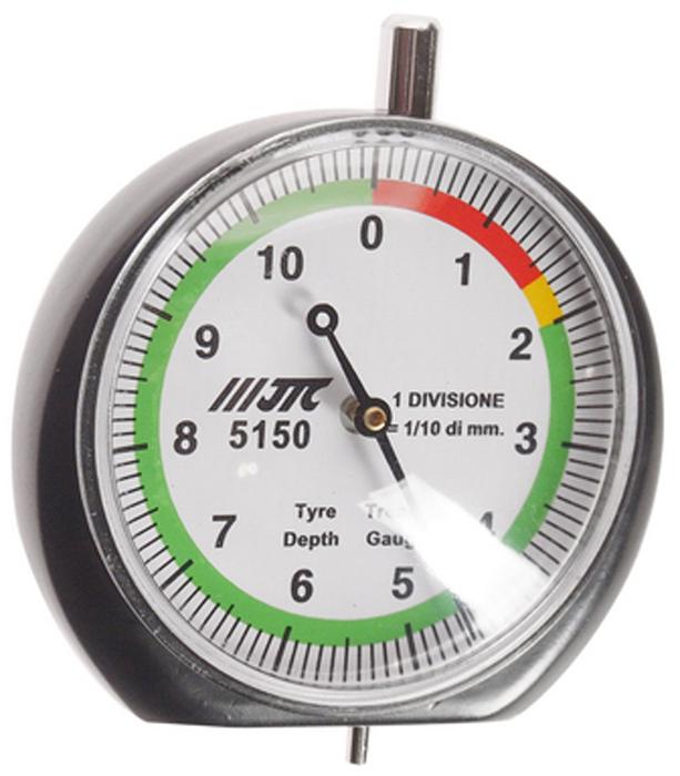 JTC Индикатор износа шин. JTC-5150JTC-5150Диаметр манометра: O 47 мм. Диапазон тестирования: 0-60 мм. (красный), 16-20 мм. (желтый), 20-110 мм. (зеленый). Габаритные размеры: 170/110/40 мм. (Д/Ш/В) Вес: 80 гр.