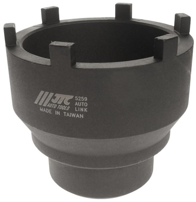 JTC Головка ступичная для задней оси MAN и MERCEDES. JTC-52592706 (ПО)Головка специальной конструкции предназначена для снятия/установки гаек задней оси.Изготовлена из высококачественной стали, обладает высокой прочностью.Используется с ключом 3/4.Общая длина: 110 мм.Применение: Задние оси грузовых автомобилей MERCEDES BENZ и MAN 10+13T, HYPOID и TRAILER AXLE NR7/4.