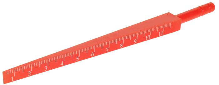 JTC Шаблон клиновой. JTC-53275104Специально предназначен для контроля различных отверстий и зазоров.Оснащен шкалой, нанесенной при помощи лазера, и ручкой с накаткой.Инструмент изготовлен из пластика.