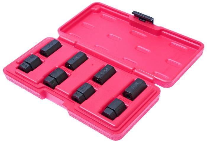 JTC Набор шпильковертов, 6 шт. JTC-57032706 (ПО)Применяется для установки и снятия шпилек. Размеры: М6х1.0, М8х1.25, М10х1.25, М10х1.5. Общее количество предметов: 8. Упаковка: прочный пластиковый кейс. Материал: Тип стали CR-V 6150. Габаритные размеры: 200/110/30 мм. (Д/Ш/В) Вес: 553 г.