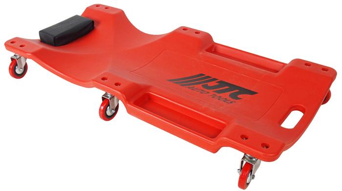 JTC Лежак ремонтный на колесах. JTC-5811JTC-5811Высококачественный эргономичный пластиковый лежак удобен в работе. Колеса (6 шт.) дают возможность автомеханику свободно передвигаться под автомобилем. Грузоподъемность: 158 кг. Размеры: 1030x470x120 мм. Габаритные размеры: 1030/500/120 мм. (Д/Ш/В) Вес: 5200 гр.