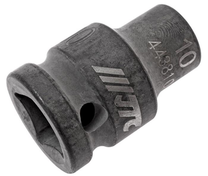 JTC Головка торцевая ударная 6-гранная 1/2 х 10 мм, длина 38 мм. JTC-443810JTC-4438106 граней, метрический размер. Изготовлена из высококачественной хром-молибденовой стали. Размер: 1/2х10 мм. Общая длина: 38 мм. Количество в оптовой упаковке: 10 шт. и 200 шт. Габаритные размеры: 38/25/25 мм. (Д/Ш/В) Вес: 71 гр.