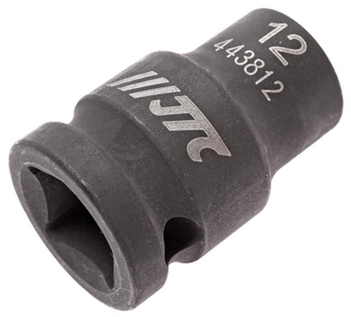 JTC Головка торцевая ударная 6-гранная 1/2 х 12 мм, длина 38 мм. JTC-443812JTC-4438126 граней, метрический размер. Изготовлена из высококачественной хром-молибденовой стали. Размер: 1/2х12 мм. Общая длина: 38 мм. Количество в оптовой упаковке: 10 шт. и 200 шт. Габаритные размеры: 38/25/25 мм. (Д/Ш/В) Вес: 74 гр.
