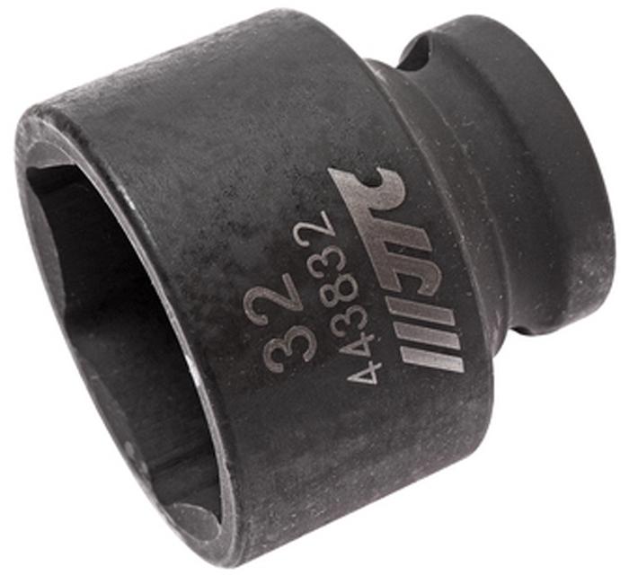 """JTC Головка торцевая ударная 6-гранная 1/2 х 32 мм, длина 42 мм. JTC-4438322706 (ПО)6 граней, метрический размер.Изготовлена из высококачественной хром-молибденовой стали.Размер: 1/2""""х32 мм. Общая длина: 42 мм.Количество в оптовой упаковке: 5 шт. и 50 шт.Габаритные размеры: 42/42/42 мм. (Д/Ш/В)Вес: 205 гр."""