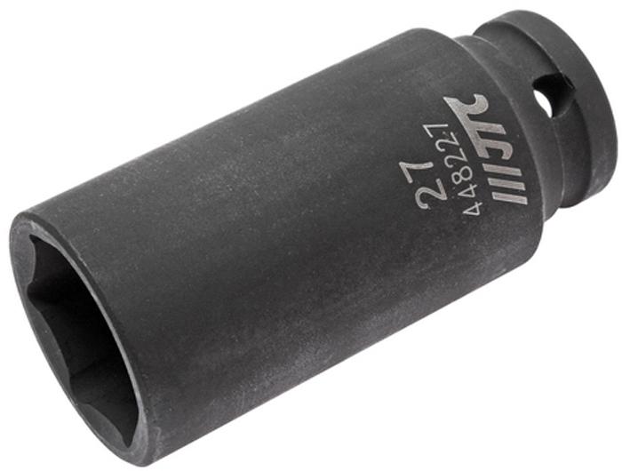 JTC Головка торцевая ударная глубокая 6-гранная 1/2 х 27 мм, длина 82 мм. JTC-448227JTC-4482276 граней, метрический размер. Изготовлена из высококачественной хром-молибденовой стали. Размер: 1/2х27 мм. Общая длина: 82 мм. Количество в оптовой упаковке: 10 шт. и 50 шт. Габаритные размеры: 82/38/38 мм. (Д/Ш/В) Вес: 393 гр.