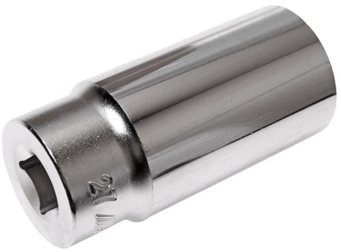 """JTC Головка торцевая глубокая 12-гранная 1/2 х 27 мм, длина 76 мм. JTC-47727510412 граней, метрический размер. Изготовлена из закаленной хром-ванадиевой стали.Размер: 1/2""""х27 мм. Общая длина: 76 мм.Количество в оптовой упаковке: 10 шт. и 80 шт.Габаритные размеры: 76/36/36 мм. (Д/Ш/В)Вес: 271 гр."""
