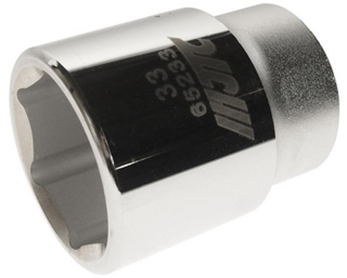 """JTC Головка6-гранная 3/4 х 33 мм, длина 56 мм. JTC-652332706 (ПО)6 граней, метрический размер.Диаметр: 33 мм.Общая длина: 56 мм.Размер: 3/4"""" Dr.Изготовлена из закаленной хром-ванадиевой стали.Габаритные размеры: 56/50/50 мм. (Д/Ш/В)Вес: 330 гр."""