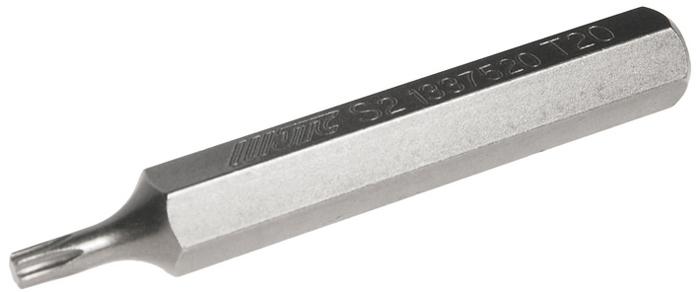 JTC Вставка 10 мм TORX удлиненная Т20х75 мм. JTC-13375205104Размер: Т20 х 75 мм., удлиненная TORX.Длина насадки: 10 мм.Материал: S2 сталь.