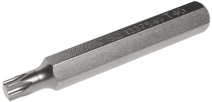 Бита JTC Torx, удлиненная, Т40х75 мм, 10 мм. JTC-13375405104Бита JTC Torx, удлиненная выполнена из стали.Размер: Т40 х 75 мм.Длина биты: 10 мм.