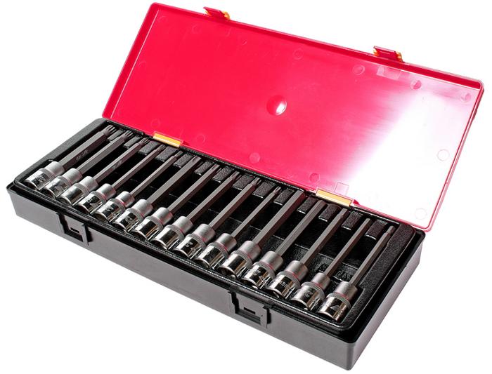 JTC Набор головок с насадкой TORX, HEX, SPLINE 1/2,15 шт. JTC-K4152JTC-K4152Набор головок TORX, HEX, SPLINE в кейсе 15 предметов JTC Характеристики В комплекте: Артикулы JTC-45530120-55120: головки TORX длина 120 мм.: T30, T40, T45, T50, T55 - 5 шт. Артикулы JTC-45605120-10120: головки HEX длина 120 мм.: H5, H6, H7, H8, H10 - 5 шт. Артикулы JTC-45705120-12120: головки SPLINE длина 120 мм.: M5, M6, M8, M10, M12 - 5 шт. Квадрат присоединения 1/2. Общее количество предметов: 15 шт. Комплект упакован в прочный презентабельный бокс. Габаритные размеры: 370/145/55 мм. (Д/Ш/В) Вес: 2050 г.