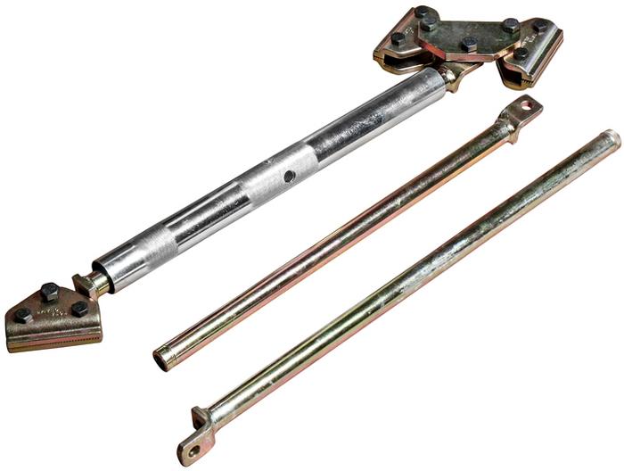 JTC Распорка для проемов кузова универсальная, с поворотными захватами и сменными планками. JTC-YC1015104Длина: 780-1850 мм. В комплекте:Внутренняя сменная планка - 1 шт.Внешняя сменная планка - 1 шт.Применение: для восстановления геометрии дверных проемов, кузова или багажника. Использование инструмента экономит рабочее время. Конструкция распорки с двумя поворотными захватами расширяет диапазон применения и позволяет выставлять инструмент под любым углом. Количество в оптовой упаковке: 20 шт.Габаритные размеры: 680/175/130 мм. (Д/Ш/В)Вес: 16000 гр.