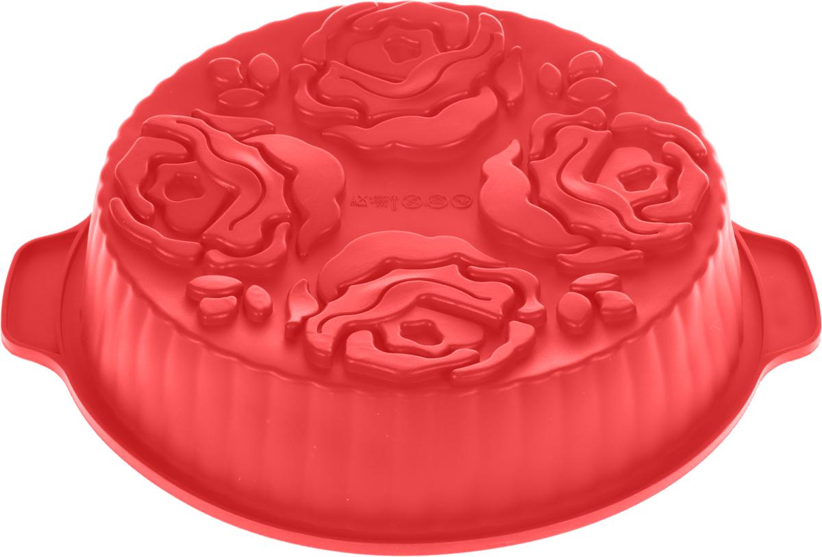 Форма для выпечки и заморозки Букет, силиконовая, цвет: красный94672Силиконовая форма для выпечки и заморозки продуктов предназначена для изготовления желе, льда, выпечки и т.д. Оригинальный способ подачи изделий не оставит равнодушным родных и друзей. Силиконовые формы Regent Inox Silicone выдерживают высокие и низкие температуры (от - 40 до + 230 градусов). Они эластичны, износостойки, легко моются, не горят и не тлеют, не впитывают запахи, не оставляют пятен. Силикон абсолютно безвреден для здоровья. Характеристики:Материал: силикон. Общий размер формы: 27 см х 27 см х 6,5 см. Размер упаковки: 44 см х 33,5 см х 7 см. Изготовитель: Италия. Артикул: 93-SI-FO-37.