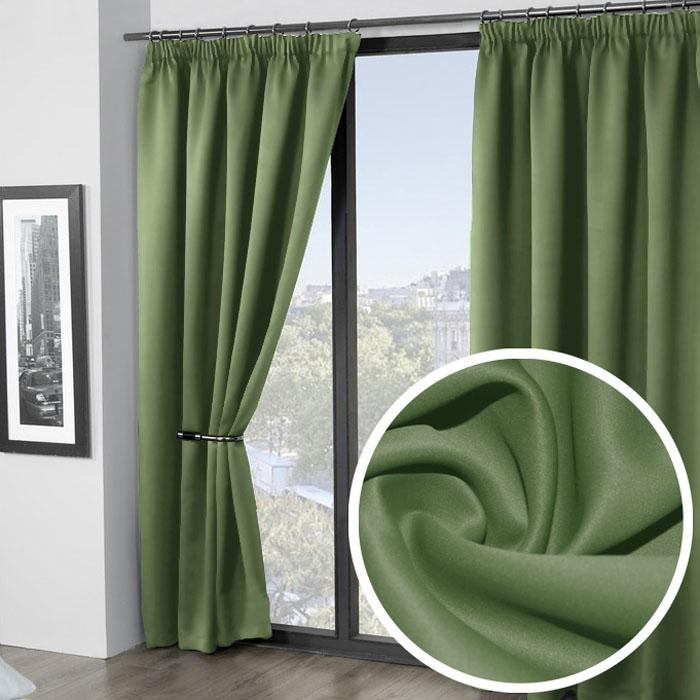 Портьеры Amore Mio Блэкаут 200 х 270 см, 2 шт., цвет: зеленый. 7480074800