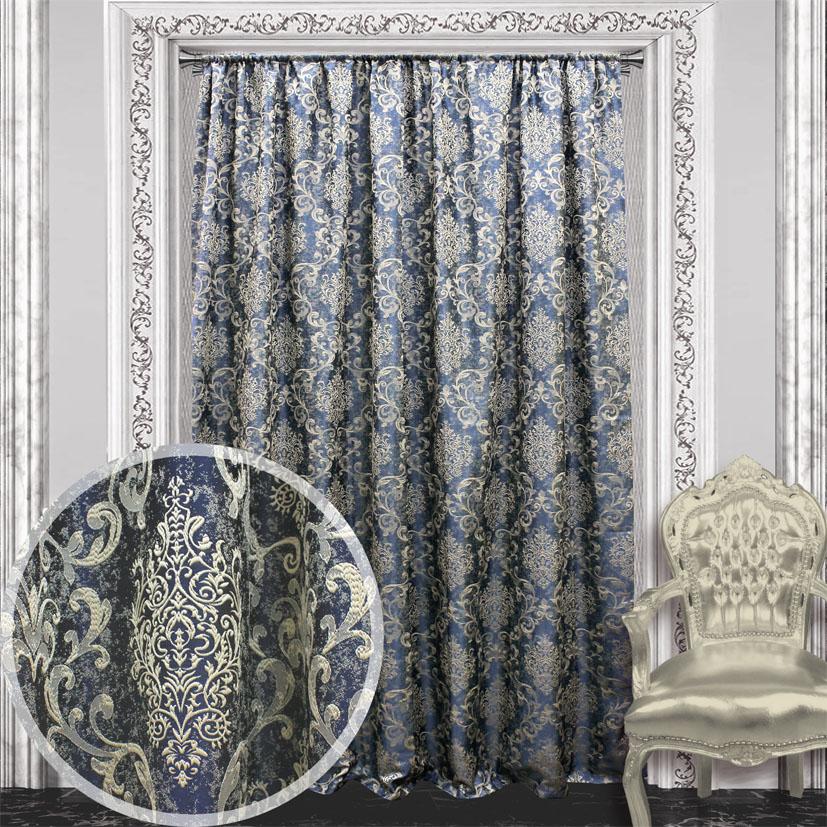 Портьера Amore Mio, 200 х 270 см, 1 шт., цвет: синий. 8446984469
