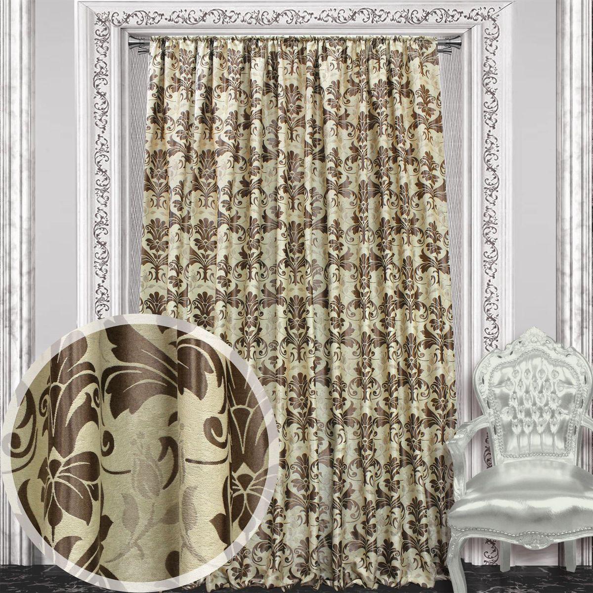 Штора Amore Mio, 200 х 270 см, 1 шт., цвет: коричневый. 8604986049