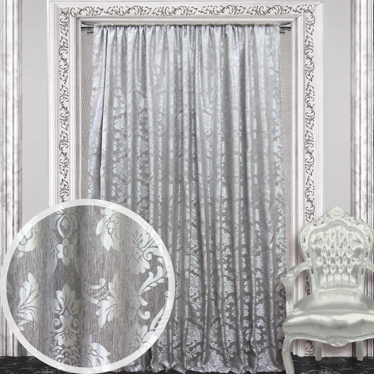 Штора Amore Mio, 200 х 270 см, 1 шт., цвет: серый. 8605286052