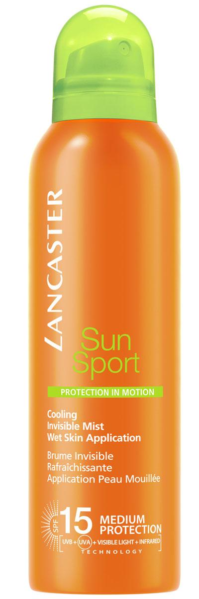 Lancaster Sun Sport Солнцезащитный спрей с возможностью нанесения на влажную кожу и высокой степенью защиты spf 15 для идеального загара, 200 мл40777313000Высокоэффективные формулы, специально разработанные для занятий спортом и активного отдыха. Быстро впитываются, незаметны и неощутимы на коже. Можно наносить на влажную кожу. Особенности: защита от UVA- и UVB- лучей с помощью фотостабильных высокоэффективных UVA- и UVB-фильтров. Эксклюзивная ИНФРАКРАСНАЯ защита благодаря уникальной системе двойного действия: отражает и нейтрализует IR-лучи благодаря 3 физическим фильтрам (рубиновой пудре, диоксиду титана, перламутровому пигменту). Нейтрализует свободные радикалы, образованные UV-лучами с помощью эксклюзивного антиоксидантного комплекса и IR-лучами с помощью мощных антиоксидантов (витамина Е и производного витамина С). NEW система нанесения на влажную кожу WET SKIN APLICATION. Комплекс Активации Загара: сочетание комплексов Гелиотан (богат аминокислотами, микроэлементами и минералами), Биотаннинг (экстракт сладкого апельсина) и масла бурити Масло бабассу Глицерин.
