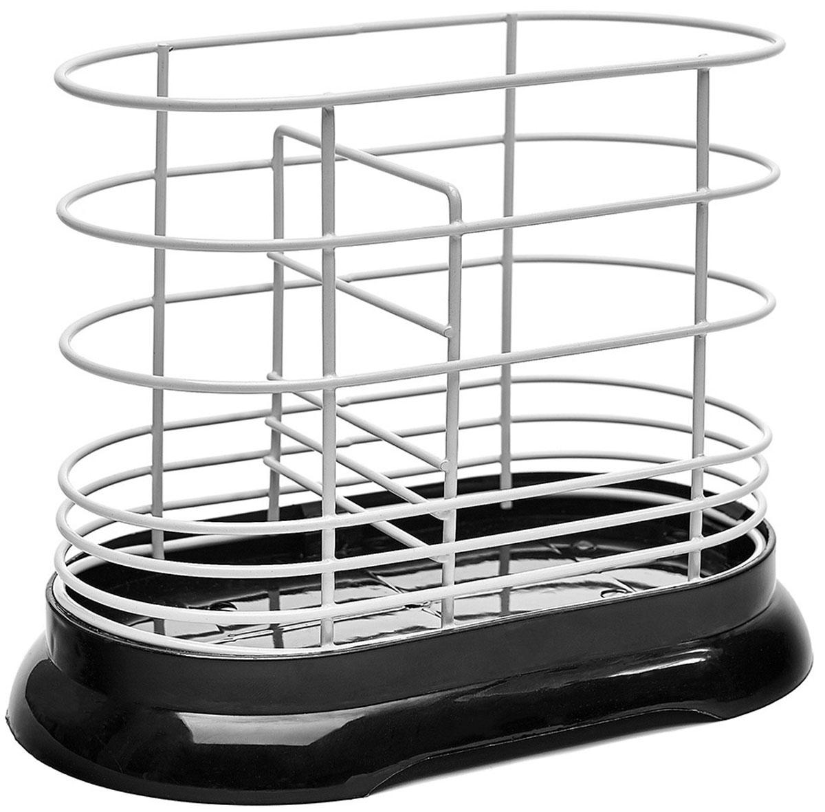 Подставка для столовых приборов Walmer, цвет: черный, 16 x 8,5 x 13,5 смW14161386