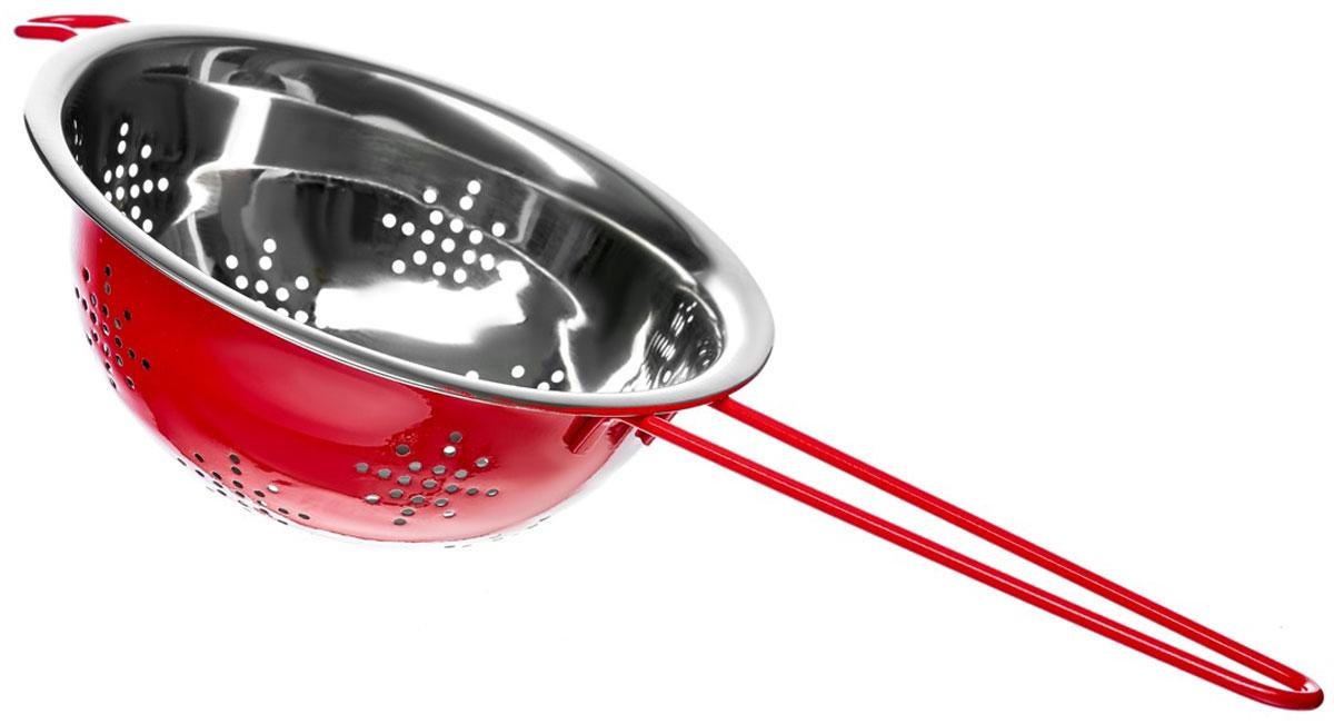 Дуршлаг Walmer Holly, цвет: красный, диаметр 18 смW26020218