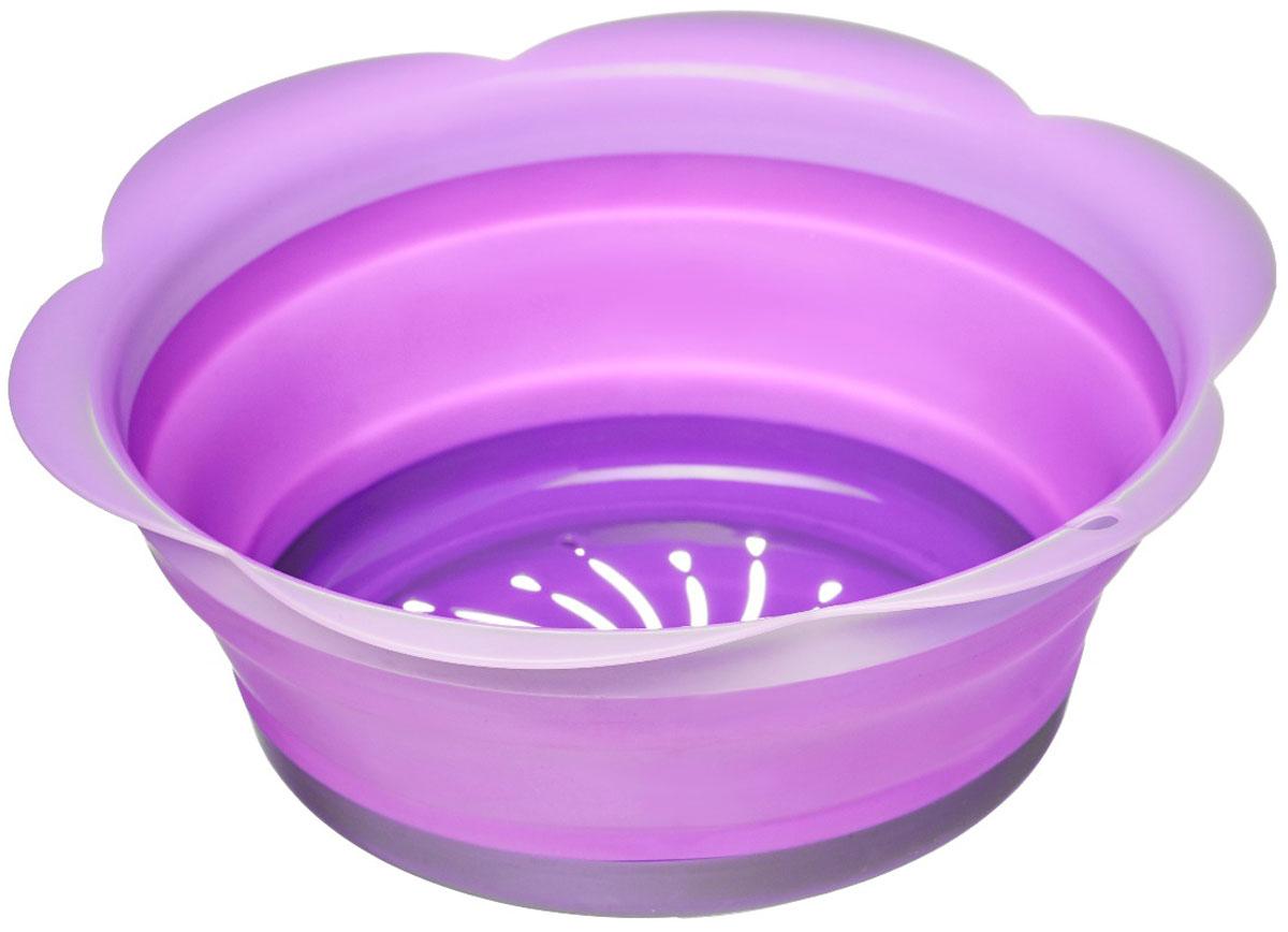 Дуршлаг Walmer Rainbow, складной, цвет: фиолетовый, диаметр 22 смW26030322