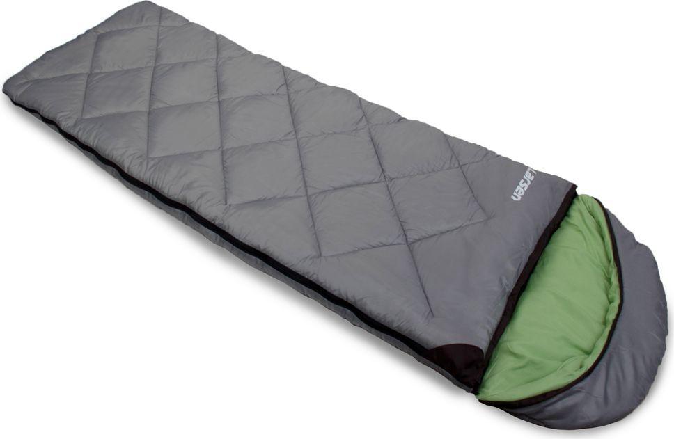 """Спальный мешок Larsen """"RS 350L-2"""", цвет: серый, зеленый, левосторонняя молния + дополнительный замок 336096"""