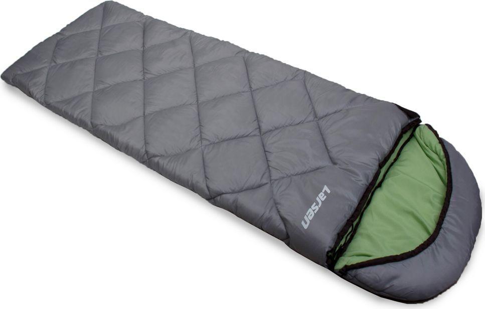 """Спальный мешок Larsen """"RS 350R-2"""", цвет: серый, зеленый, левосторонняя молния + дополнительный замок 336097"""