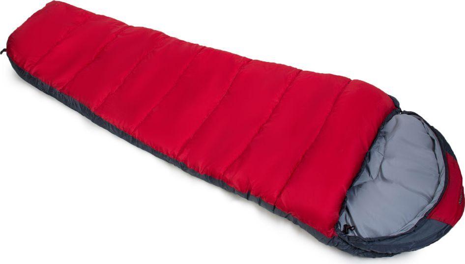 """Спальный мешок Larsen """"RS 400R"""", цвет: красный, серый, правосторонняя молния 336098"""