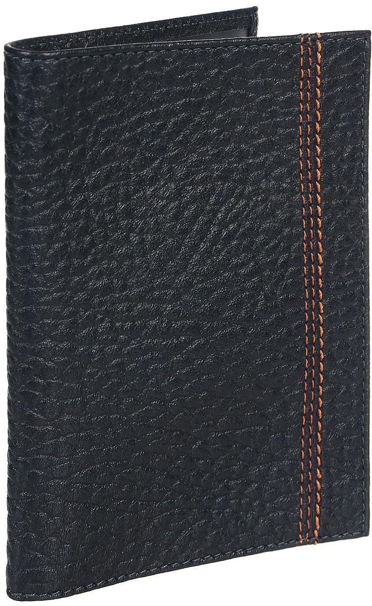 Обложка для паспорта мужская Fabula Talisman, цвет: темно-синий. O.81.BRA16-11154_711Обложка для паспорта из коллекции «Talisman» выполнена из натуральной кожи.На внутреннем развороте 2 кармана из прозрачного пластика, шелковистая подкладка.