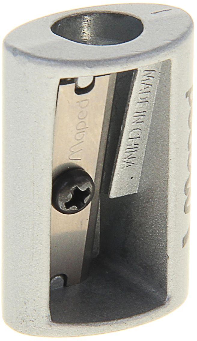 Maped Точилка SatelliteFS-54103Точилка — это приспособление, облегчающее затачивание карандашей. В зависимости от особенностей конструкции, она может быть ручной (небольшой размер, помещается в кармане) или настольной (более крупный размер) и подходить для обычных или толстых карандашей. Точилка — необходимый инструмент на любом школьном или офисном столе. Это канцелярское изделие придет на помощь как взрослому, так и ребенку в самый нужный момент. Заострить карандаш, выровнять или восстановить сломавшийся грифель — вот главные функции, с которыми справится Точилка металлическая SATELLITE на одно отверстие.