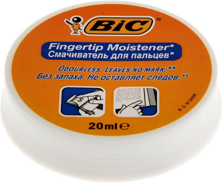 BIC Увлажнитель для пальцев гелевый 1314670FS-00897Канцелярские принадлежности BIC известны во всем мире благодаря неизменно высокому качеству и простоте в использовании. Смачиватель для пальцев BIC Fingertip позволит быстро и аккуратно перелистывать страницы и денежные купюры. Гель для увлажнения пальцев, в круглом пластиковом корпусе, объем — 20 мл. Наполнение: гелевый состав на водной основе, не оставляет следов после высыхания. Гель для увлажнения пальцев гигиеничен, без запаха. Обладает антисептическими свойствами.