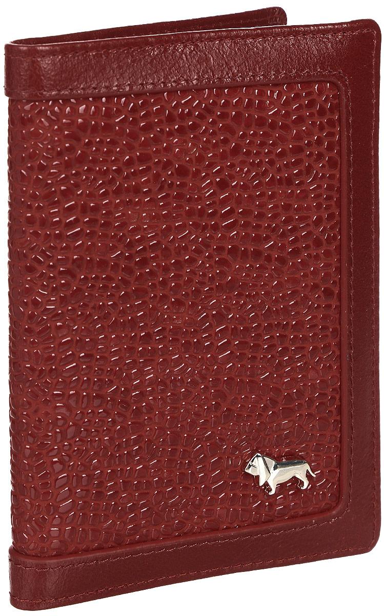 Обложка Labbra L043-1012 redBM8434-58AEОбложка для паспорта торговой марки LABBRA из натуральной кожи. Модель не имеет дополнительных отделений. кожа лакированная с тиснением
