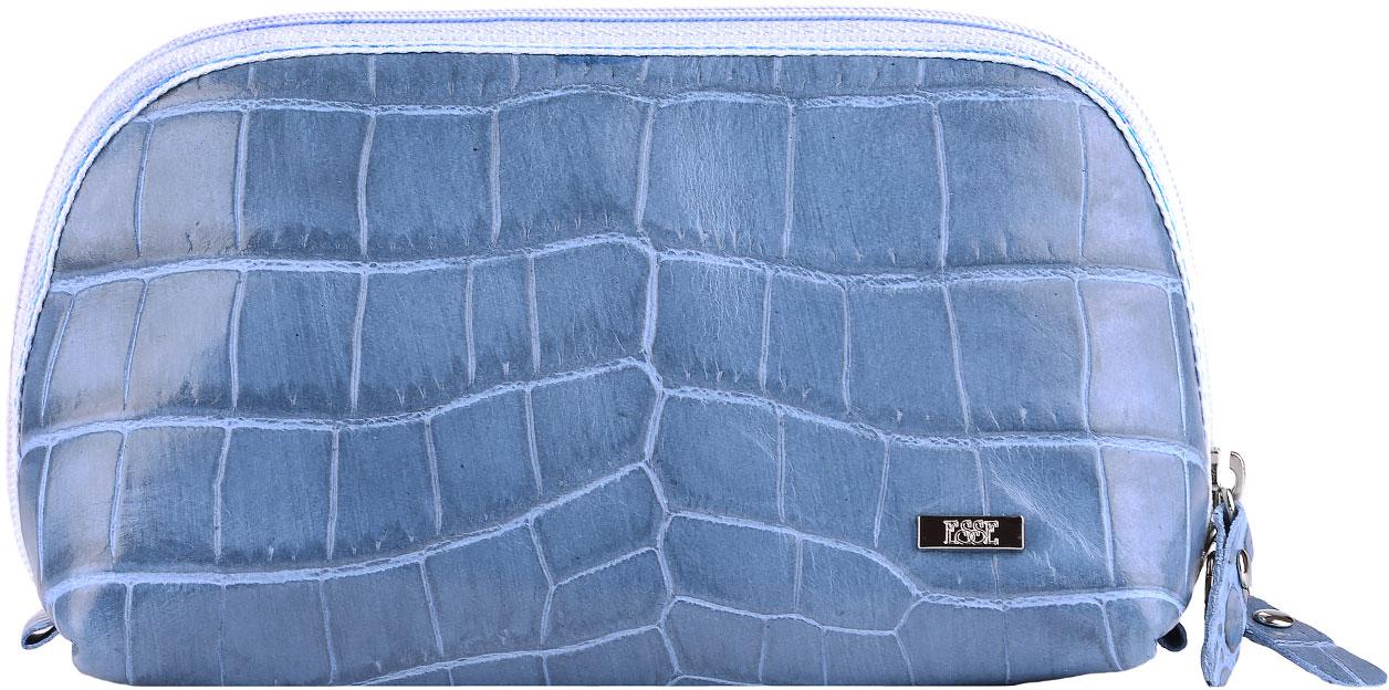 Косметичка женская Esse Претти, цвет: синий. GPRE00-00ML00-FG108S-K100INT-06501Косметичка изготовлена из натуральной кожи. Имеет актуальную вместительную форму. Закрывается на двустороннюю молнию.