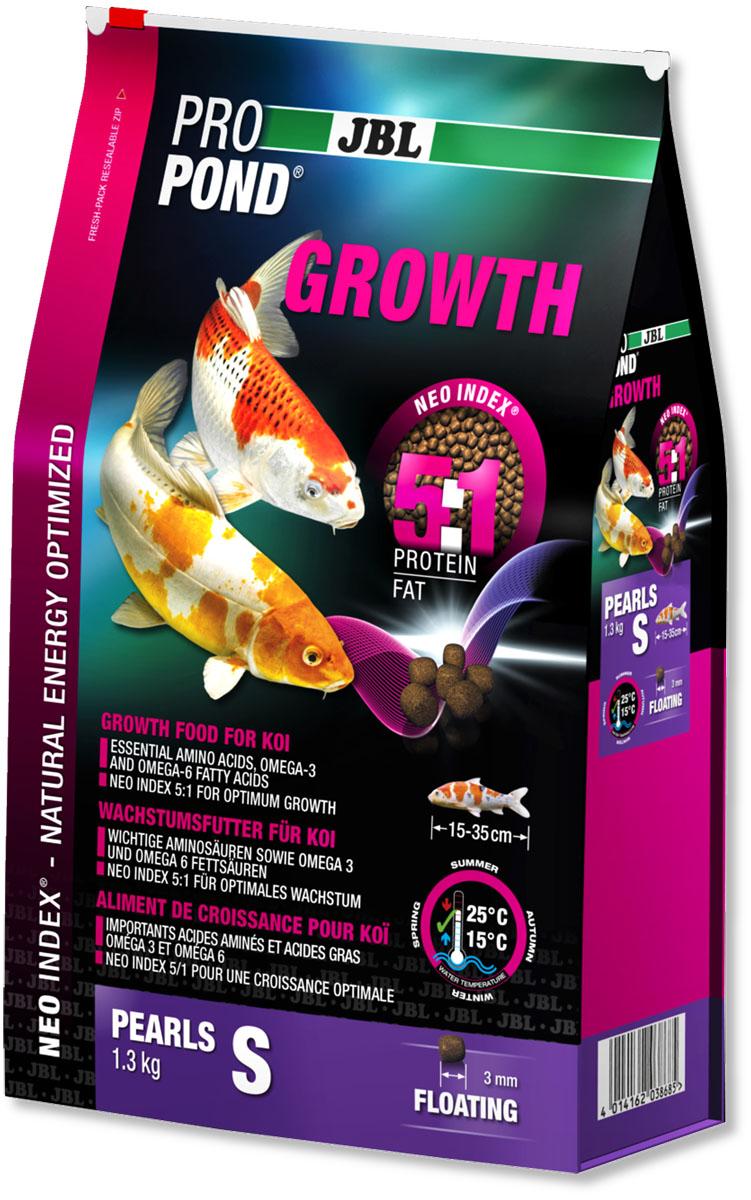 Корм JBL ProPond. Growth S для активного роста карпов кои небольшого размера, плавающие гранулы, 1,3 кг (3 л)0120710Корм JBL ProPond. Growth S в виде плавающих гранул предназначен для активного роста карпов кои небольшого размера. Это основной корм с правильным соотношением белков и жиров 5:1 по индексу NEO Index, учитывающему температуру воды, функцию, размер и возраст рыб. NEO Индекс буквально означает: натуральное энергетически оптимизированное питание. Если рассматривать с точки зрения времени года, рыбы зимой должны получать вдвое меньше белков (2:1), чем летом (4:1). Однако учитываются не только время года и температура воды, но и размер, и возраст, а также функция корма (например, для роста - ProPond Growth). NEO Индекс сочетает в себе все эти нюансы. Корм содержит лосось, креветки, спирулину, рыбий жир для оптимального роста (при температуре воды 15-25°С). Размер корма S (3 мм) предназначен для рыб 15-35 см. Плавучие гранулы с 46% белка, 10% жира, 2% клетчатки и 10% золы. Корм в виде гранул для роста хранится в закрывающемся, воздухо-, водо- и светонепроницаемом пакете для лучшего качества. Товар сертифицирован.