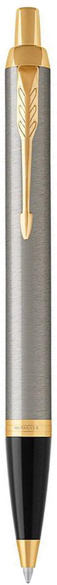 Parker Ручка шариковая IM Brushed Metal GTPP-001Марка Parker гарантирует полную уверенность в превосходном качестве товара. Автоматическая шариковая ручка Parker IM Brushed Metal GT будет не только долго служить, но и неизменно радовать удобством и легкостью письма, надежностью в эксплуатации и прекрасным эстетическим исполнением.Автоматическая шариковая ручка Parker IM Brushed Metal GT изготовлена из латуни с покрытием глянцевого лака. Цвет декоративных элементов - золотой. Форма ручки - круглая, цвет чернил - синий. Автоматическая шариковая ручка Parker IM Brushed Metal GT аккуратно упакована в выдвижной футляр.