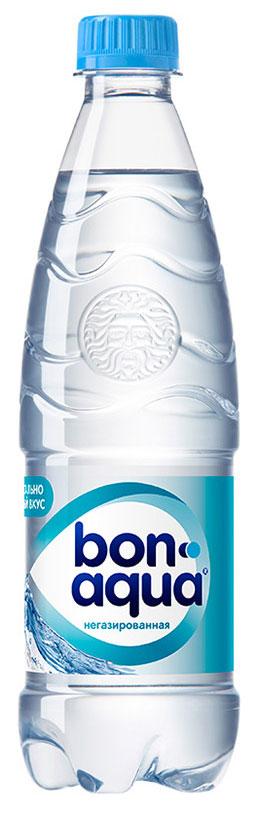 BonAqua Вода чистая питьевая негазированная, 0,5 л0120710BonAqua - это кристально чистая питьевая вода, высокого качества.BonAqua - известная и любимая в России марка. Производство воды Bon Aqua началось в Германии в 1988 году. В России запуск питьевой воды Bon Aqua был успешно осуществлен в 1994 году.BonAqua проходит 7-ми ступенчатую систему очистки и водоподготовки. Производится в строгом соответствии с высочайшими стандартами качества компании Coca-Cola. Содержит минеральные элементы (Ca, Mg). Обладатель золотой медали в категории Бутилированная вода выставки Вода: экология и технология (ЭКВАТЭК) .В России BonAqua 6 раз признавалась Товаром Года.Уважаемые клиенты! Обращаем ваше внимание на то, что упаковка может иметь несколько видов дизайна. Поставка осуществляется в зависимости от наличия на складе.