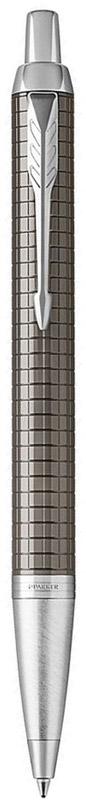 Parker Ручка шариковая IM Premium Dark Espresso Ciselled CT72523WDМарка Parker гарантирует полную уверенность в превосходном качестве товара. Автоматическая шариковая ручка Parker IM Premium Dark Espresso Ciselled CT будет не только долго служить, но и неизменно радовать удобством и легкостью письма, надежностью в эксплуатации и прекрасным эстетическим исполнением.Автоматическая шариковая ручка Parker IM Premium Dark Espresso Ciselled CT изготовлена из латуни цвета кофе с фирменным гравированным рисунком. Хромированная отделка деталей выполнена с полировкой. Форма ручки - круглая, цвет чернил - синий. Автоматическая шариковая ручка Parker IM Premium Dark Espresso Ciselled CT аккуратно упакована в выдвижной футляр.