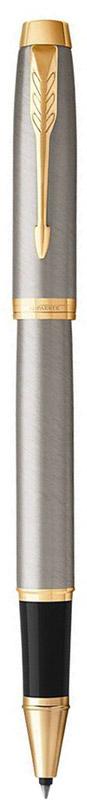 Parker Ручка-роллер IM Brushed Metal GT96732СМарка Parker гарантирует полную уверенность в превосходном качестве товара. Ручка-роллер Parker IM Brushed Metal GT будет не только долго служить, но и неизменно радовать удобством и легкостью письма, надежностью в эксплуатации и прекрасным эстетическим исполнением. Ручка-роллер Parker IM Brushed Metal GT выполнена в лакированном корпусе из отшлифованного металла с круговой полировкой. Позолоченная отделка деталей выполнена с полировкой. Форма ручки - круглая. Ручка-роллер Parker IM Brushed Metal GT аккуратно упакована в выдвижной футляр.