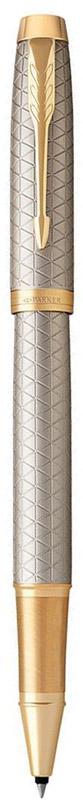 Parker Ручка-роллер IM Premium Warm Silver GT96732СМарка Parker гарантирует полную уверенность в превосходном качестве товара. Ручка-роллер Parker IM Premium Warm Silver GT будет не только долго служить, но и неизменно радовать удобством и легкостью письма, надежностью в эксплуатации и прекрасным эстетическим исполнением. Ручка-роллер Parker IM Premium Warm Silver GT выполнена в корпусе из чернового матового анодированного алюминия, прошедшего пескоструйную обработку, с фирменным гравированным рисунком. Позолоченная отделка деталей с полировкой. Форма ручки - круглая. Ручка-роллер Parker IM Premium Warm Silver GT аккуратно упакована в выдвижной футляр.