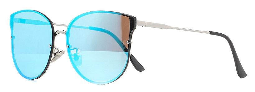 Очки солнцезащитные женские Vitta pelle, цвет: голубой. 2802-2017-820INT-06501Степень защиты от ультрафиолетовых лучей - 400UV.