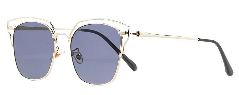 Очки солнцезащитные женские Vitta pelle, цвет: золотистый, черный. 2802-2017-897INT-06501Степень защиты от ультрафиолетовых лучей - 400UV.