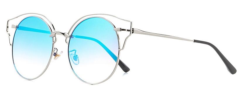 Очки солнцезащитные женские Vitta pelle, цвет: голубой. 2802-2017-970TL-49-FKСтепень защиты от ультрафиолетовых лучей - 400UV.