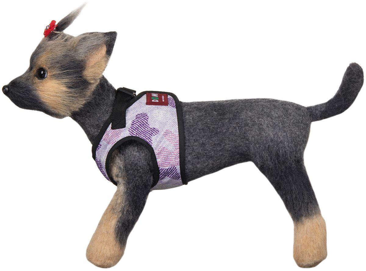 Шлейка для собак Dogmoda Мегаполис. Размер 3 (L)0120710Шлейка-жилет для собак Мегаполис предназначена для мелких и средних пород собак. В отличие от ошейника, она бережно охватывает шею и грудь питомца, не пережимая тело. Движения животного при этом не скованы, а наличие самой шлейки практически не ощущается.Изготовлена она из водооталкивающего полиэстера. Внутренний слой шлейки имеет сетчатую структуру.Мягкая ткань делает прогулки домашнего питомца комфортными и легкими, позволяет почувствовать свободу движения. Шлейка сделана в форме жилета, и имеет два вида застяжки- липучка с помощью которой можно отрегулировать объем и фастекс для крепления поводка.Шлейка подойдет как для девочек, так для мальчиков.