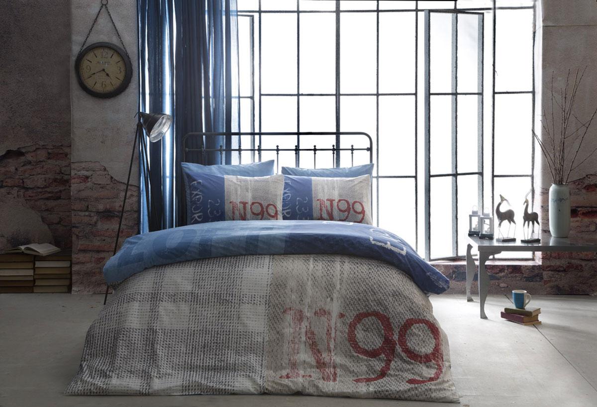 Комплект белья TAC Ranforce. Loft, семейный, наволочки 50х70, цвет: синийS03301004Эталон сатина в России. Фирменные яркие дизайны Pano на нежной шелковистой фактуре сатиновой ткани из экологичного хлопка. Сатин - гладкая и прочная ткань, которая своим блеском, легкостью и гладкостью похожа на шелк, но выгодно отличается от него в цене. Сатин практически не мнется, поэтому его можно не гладить. Ко всему прочему, он весьма практичен, т.к. хорошо переносит множественные стирки. Если вы ценитель эстетики и практичности одновременно, безусловно, сатин для вас!