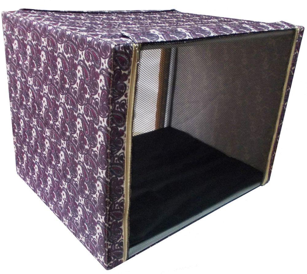 Клетка выставочная Заря-плюс, с чехлом, цвет: бордовый, 76 х 56 х 56 см0120710Выставочная палатка отличный выбор для участия на любой российской или международной кошачьей выставке. Выставочные клетки для кошек Заря-плюс обладают многочисленными преимуществами:- лицевая сторона палатки выполнена из пленки, которая пристегивается с помощью молнии;- обратная сторона палатки выполнена из сетки, которая также пристегивается с помощью молнии; - боковые стороны палатки закрытые;- палатка выполнена из прочной, высококачественной, водонепроницаемой ткани; - палатка разборная; в комплект входит сборный каркас из пластиковых труб вместе с соединительными уголками, который собирается просто и быстро; - в сложенном виде палатка довольно компактна, при хранении занимает мало места; - палатка переносится в чехле, который входит в комплект; - для удобной переноски чехол имеет короткую и длинную ручки, также на чехле имеется 2 больших кармана на молнии; - в комплект входит матрац со съемным чехлом на молнии; при необходимости матрац легко снимается для стирки. Обратите внимание, что данная выставочная клетка имеет жесткую и очень прочную конструкцию, благодаря чему во время выставки вы можете смело сажать кошку на палатку сверху.Выставочная клетка (76 х 56 х 56 см) отлично подойдет для кошки любой породы.