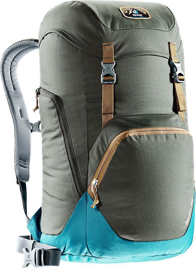 Рюкзак городской Deuter Walker, цвет: коричневый, синий, 24 л2137-1 beige- спинка Airstripes для великолепной вентиляции- очень комфортные, эргономичные, с мягкими краями плечевые лямки- отделение для документов- карабинчик для ключей- боковые карманы с эластичным, растягивающимся краем- внутренний карман для ценных вещей- большой накладной карман на молнии с органайзером для мобильного телефона, кошелька и т.д.- сменный, в ретро-стиле, съемный поясной ремень- большой накладной карман на молнии с органайзером для мобильного телефона, кошелька и т.д.- практичный карман-прорезь для ноутбука 15,6, добраться в который можно как через боковую молнию, так и изнутри.- съемный поясной ремень- закрывающийся боковой карман для мышки, кабеля и т.д.Вес: 780 гОбъем: 24 лРазмеры: 52 x 30 x 23 смМатериал: Ripstop-Polytex