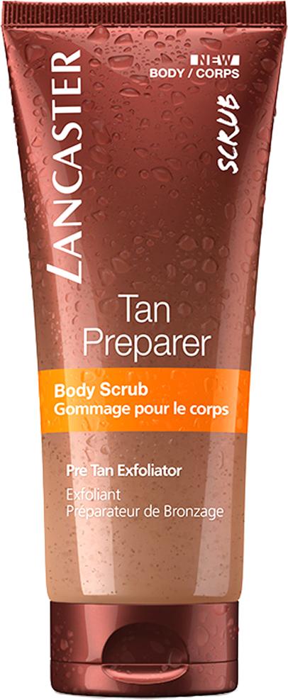 Lancaster Self Tan Скраб для тела для подготовки к загару, 200 млБ33041_шампунь-барбарис и липа, скраб -черная смородинаГладкая и увлажненная кожа Смягчает кожу Позволяет получить равномерный загар Помогает продлить загар