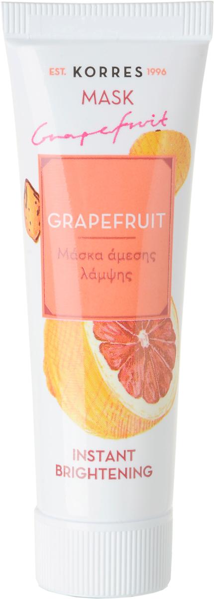 Korres Еженедельное очищение Маска для мгновенного улучшения цвета Грейпфрут, 16 млFS-00103Очищает и осветляет кожу с самого первого применения.