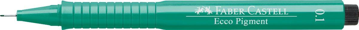 Faber-Castell Ручка капиллярная Ecco Pigment цвет зеленый 10 шт 16616372523WD идеальны для письма, рисования, набросков пигментные черные чернила водо- и светоустойчивые позволяют рисование с линейкой и по шаблону длинный кончик с металлическим корпусом эргономичная область захвата металлический клип 9 типов толщины линии